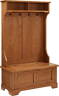 Crosley Furniture Campbell Hall Tree - Oak
