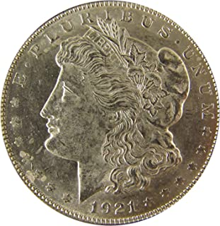 1921 D Morgan Silver Dollar $1 About Uncirculated
