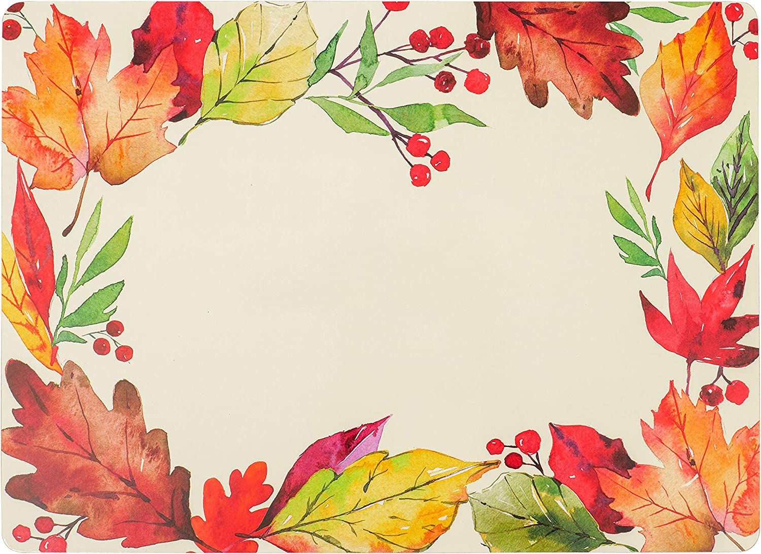 KAF Home Cork Placemats 16 Fort Worth Mall x Set Harvest Wreath 4 12-Inch Department store of