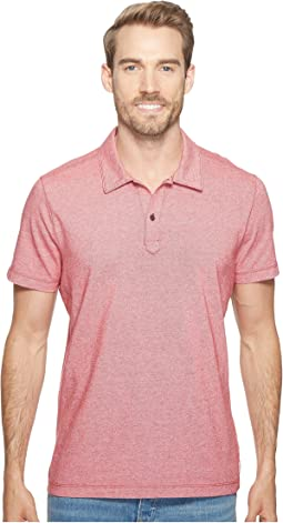 Short Sleeve Polo Italian Pique in Red