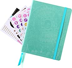 Law of Attraction Life Planner - Weekly & MonthlyPlanner to Increase Productivity & Happiness - Weekly Planner, Organizer & Gratitude Journal (Undated, Metalic Turquoise) + Bonus Planner Stickers