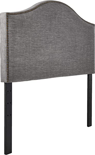 Ravenna Home Haraden Modern Curved Top King Headboard 82 W Grey