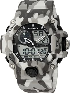 HEAD Mens Quartz Watch, Analog-Digital Display and Resin Strap HE-105-03