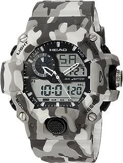 HEAD Mens Quartz Watch, Analog-Digital Display and Resin Strap HE-105-03