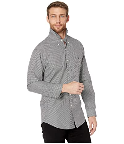 Polo Ralph Lauren Slim Fit Poplin Stretch Sports Shirt (Black/White Check) Men