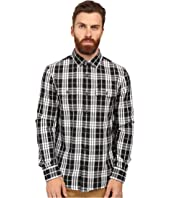 Original Penguin - Long Sleeve Slub Double Cloth Plaid