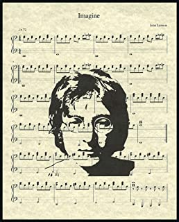 Ready Prints Imagine by John Lennon Music Sheet Artwork Print Picture Poster Home Office Bedroom Nursery Kitchen Wall Decor - unframed