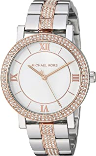 Women's Norie Quartz Watch with Stainless Steel Strap, Two Tone, 18 (Model: MK4406)