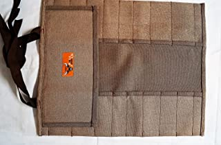 Bull Tools BT 1705 Tool Roll 20 pocket 100% Dyed and Sand Washed 15 Oz. Cotton Duck Canvas Cinnamon Brown