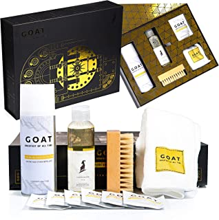 Best GOAT SHIELD Premium Shoe Cleaning Kit Limited Edition Vault Gift Box - Comes with Shoe Protector Spray, Sneaker Cleaner Solution + Brush, Microfiber Towel, Sneaker Wipes Review
