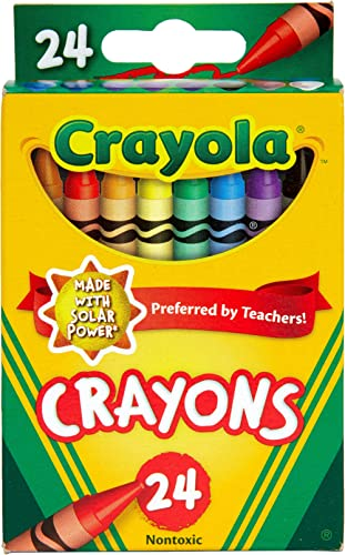 Crayola 24 Pack Regular Crayons, Perfect for Art, Colouring and Drawing, Classic Crayola Colours, Preferred by Teache...