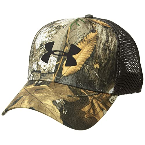 59138b5698bb8c Under Armour Men's Camo Mesh Cap 2.0, Realtree Edge (991)/Black,