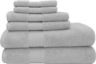 Baltic Linen Endure Luxury Super Soft 6-Piece Bath Towel Set: (Lunar Rock, 2 Bath Towels, 2 Hand Towels, 2 Washcloths)