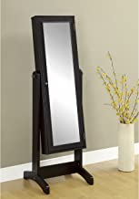 Coaster Home Furnishings Swivel Jewelry Cheval Mirror with Storage Cappuccino