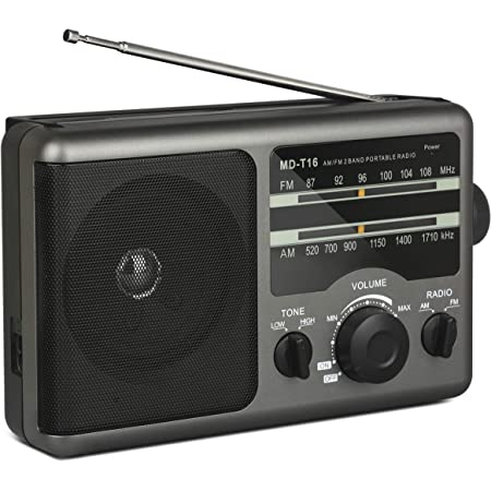FM AM SW Transistor Radio with Flashlight Battery Operated Radio by 3X D Cell Battery or AC Power Transistor Radio with Excellent Reception Portable Shortwave Radio Big//Small Tuning Knob