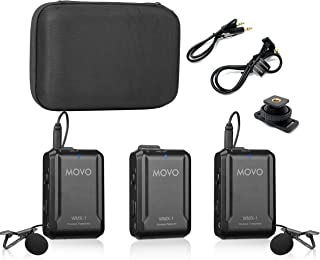 Movo WMX-1-DUO 2.4GHz Dual Wireless Lavalier Microphone System Compatible with DSLR Cameras, Camcorders, iPhone, Android S...