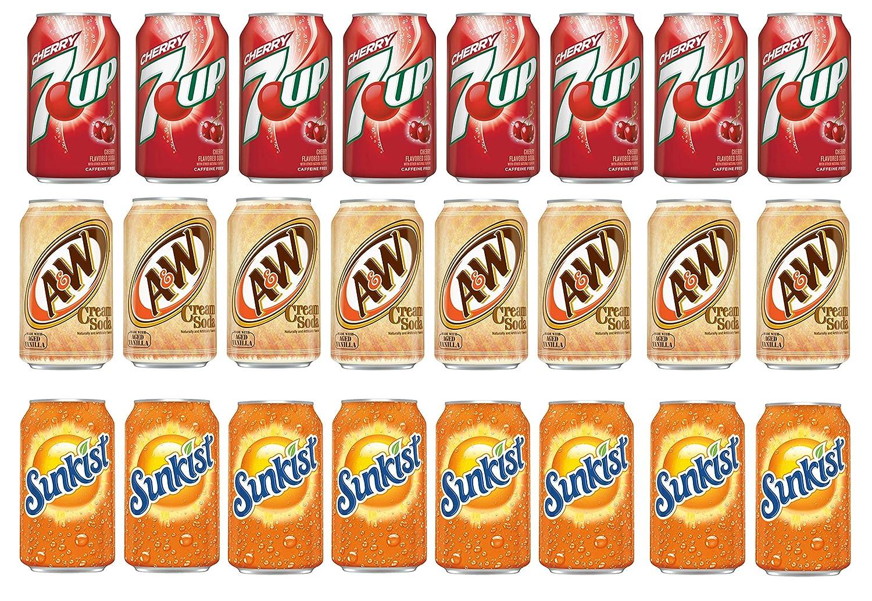 LUV-BOX Variety Soda pack Max 79% OFF Cheap of 24 12 7UP CHERRY oz fl
