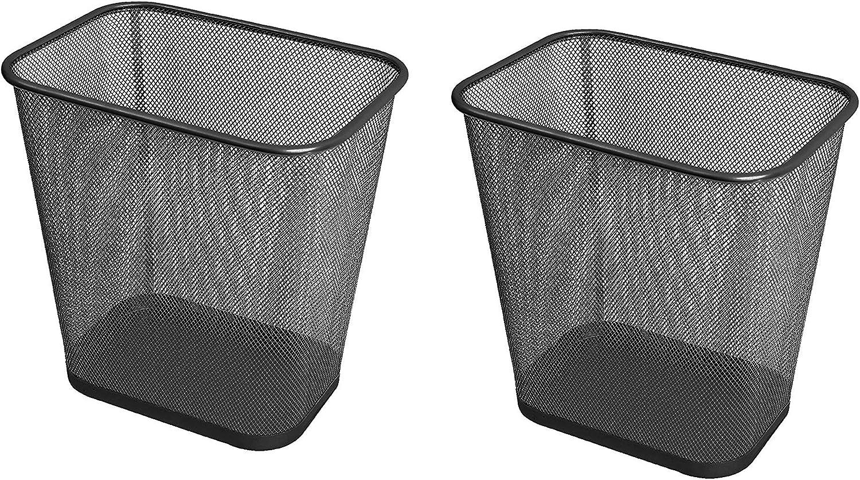YBM Home 1 year warranty Steel Mesh Rectangular Open Top Oklahoma City Mall Bin Basket Trash Waste