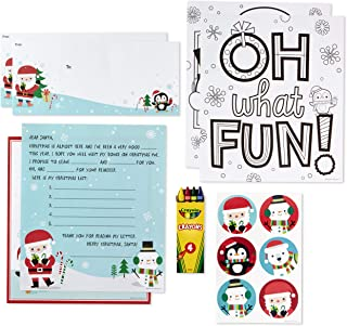 Hallmark Letters to Santa Kit with Stickers, Coloring Pages, Envelopes, and Crayons (Polar Friends)