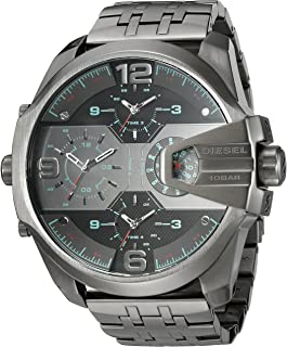 Diesel Men's 'Uber Chief' Quartz Stainless Steel Casual Watch, Color:Grey (Model: DZ7372)