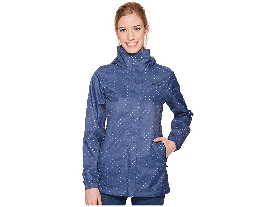 The North Face Resolve Parka (Blue Wing Teal Triangle Dot Print) Women