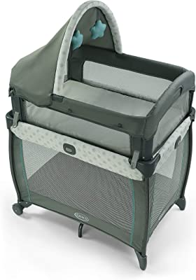 Graco My View 4 in 1 Bassinet with 4 Stages, Including Raised at Eye Level, Ramley, 20.7 pounds