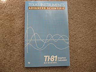 Technology Resource Manual for Calculus: T1 Graphing Calculators, Vol. 1 (Texas Instruments Ti-81, Ti-82 and Ti-85 Calculators)