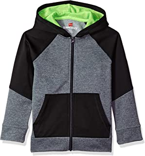 Hanes Boys' Big Tech Fleece Full-Zip Raglan Hoodie