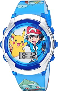 Pokémon Kids' Watch with Flashing LED Lights - Kids Digital Watch with Official Pokémon Characters on the Dial, Childrens ...