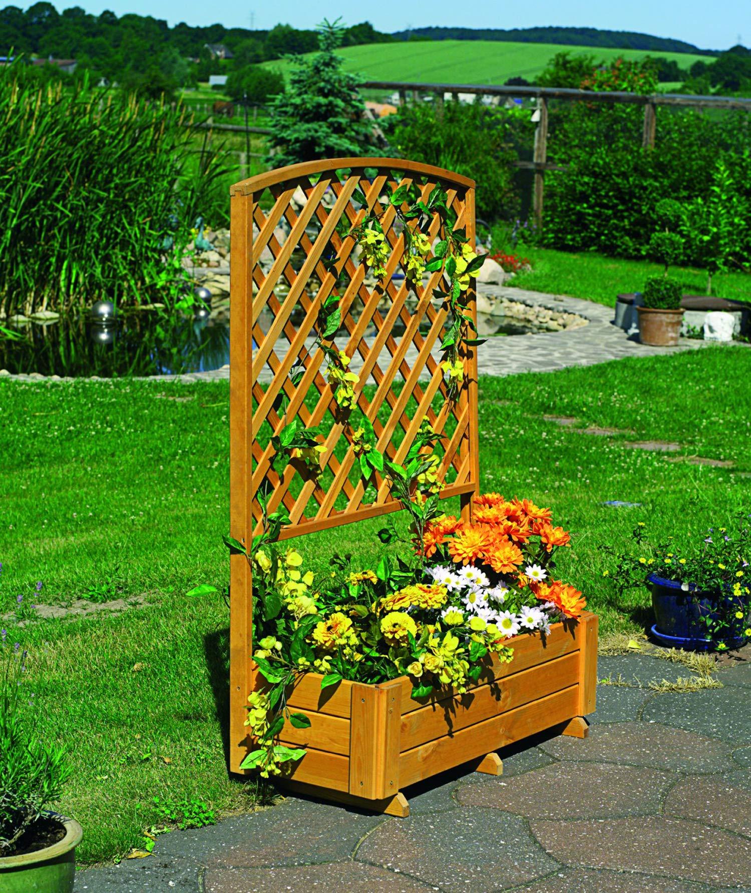 Promex Flora - Celosía de madera con cubo para plantas (130 cm ...