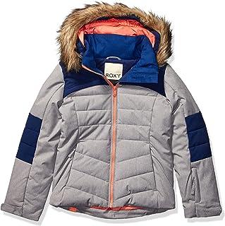 Roxy Snow Big Bamba Girl Jacket, Heather Grey, 14/XL