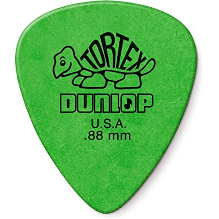 Dunlop 418P88-Juego de 12púas para guitarra, color verde