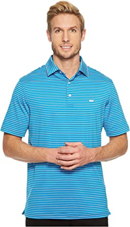 Vineyard Vines Golf - Swindell Stripe Sankaty Performance Polo