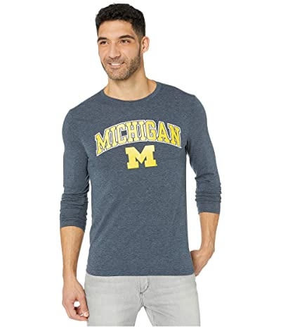 Champion College Michigan Wolverines Field Day Long Sleeve Tee (Navy) Men