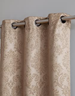 Blackout Weave Embossed Curtain Panels   Block Light And Noise   Best Sleep Of Your Life  Thermal Weaved Room Darkening Fabric Durable Grommets Premium Curtains And Draperies (1 panel 54x96, Taupe)
