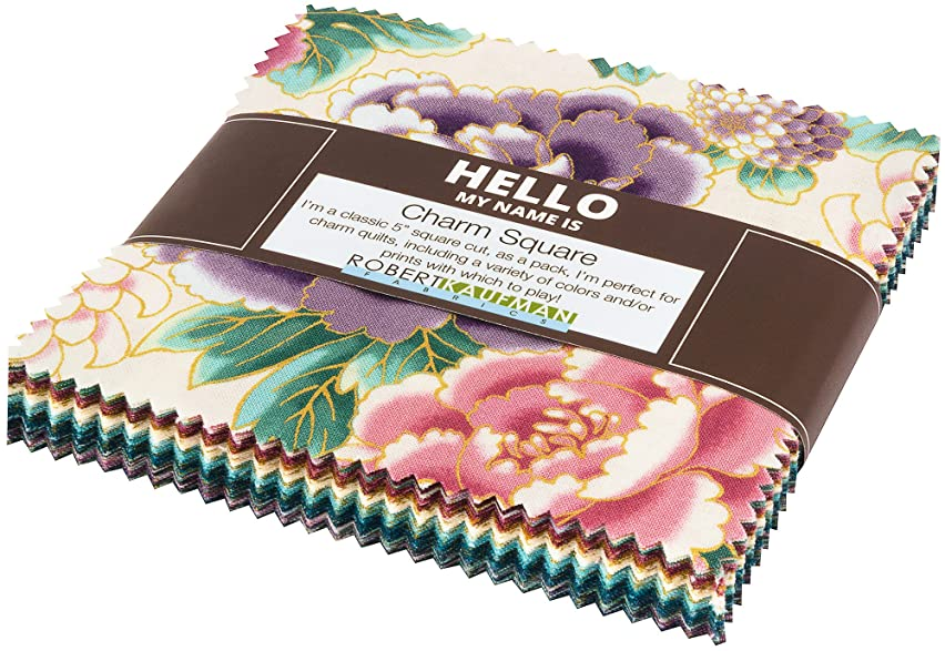 Imperial 14 Metallics Garden Charm Square 42 5-inch Squares Charm Pack Robert Kaufman CHS-713-42