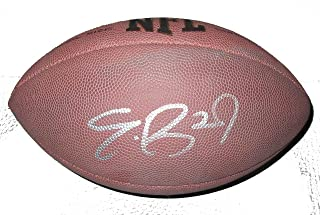 Eric Berry Autographed Wilson NFL Football W/PROOF, Picture of Eric Signing For Us,Kansas City Chiefs, Pro Bowl, Tennessee Vols
