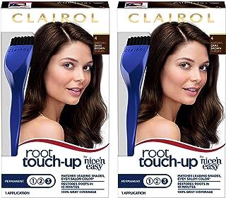 Clairol Nice 'n Easy Root Touch-Up 004 , Dark Brown, (PACKAGING MAY VARY) (Pack of 2)