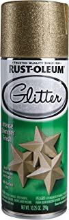 Rust-Oleum 267689 Specialty Glitter Spray, 10.25 Fl Oz (Pack of 1), Gold, 10 Ounce
