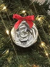 Sherlock Holmes Book Page Flower Christmas Tree Ornament