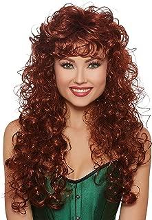 Women's Long Curly Auburn Wig, One Size
