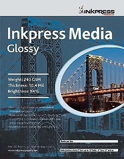 INKPRESS MEDIA Gloss 240 GSM, 10.4 Mil, 94 Percent Bright Paper (#PCUG46100)