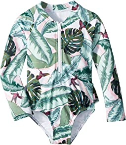 Seafolly Kids Palm Beach Long Sleeve Surf Tank One-Piece (Infant/Toddler/Little Kids)