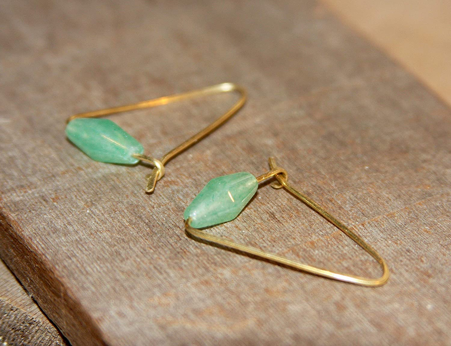 Triangle Hoop Earrings Small Sale special price Green Tucson Mall