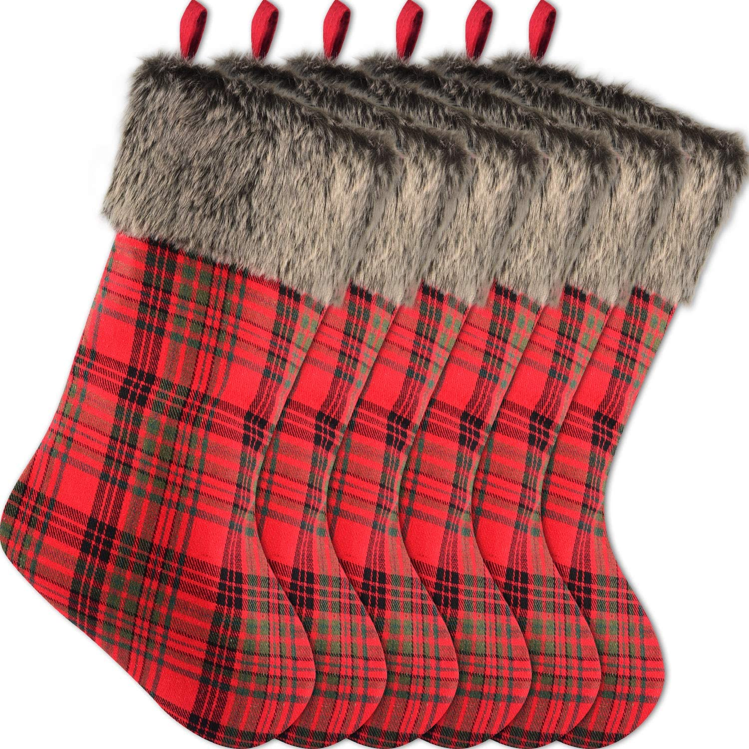 Sunshane 35% OFF 6 Pieces Limited time sale Christmas Stockings Firepl 18 Xmas Inch Mantel