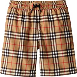 Galvin Check Swim Shorts (Little Kids/Big Kids)