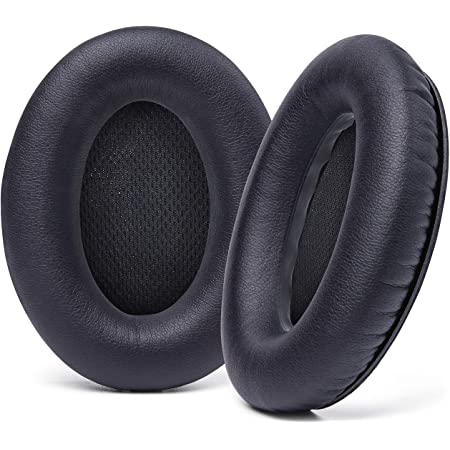 WC Upgraded Replacement Ear Pads for Bose QC15 Headphones Made by Wicked Cushions- Supreme Comfort - Compatible with QC25 / QC2 / AE2 / AE2i / AE2W - Extra Durable | Black