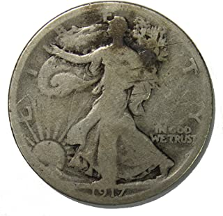 1917 D Reverse Walking Liberty Half Dollar 50c Good