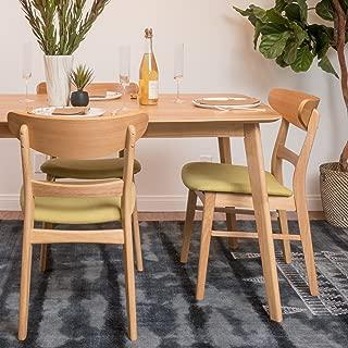 Christopher Knight Home Italia Green Tea Fabric/Oak Finish Dining Chair