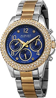 August Steiner Diamond Women's Dial Stainless Steel Band Watch